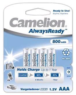 Oplaadbare batterijen aaa always ready NIMH 800 mah